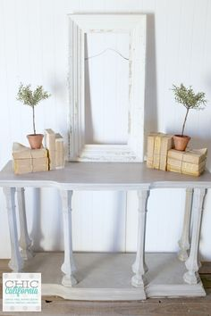 Ugly Alert! Avocado Green Console Table To Restoration Hardware Style Beauty - Chic California