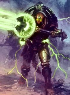 Necrontyr Warhammer 40k Necrons, Warhammer Fantasy, Alien Character, Fantasy Weapons, Fantastic Art, Fantasy Artwork, Looks Cool, Fantasy Characters, Game Art