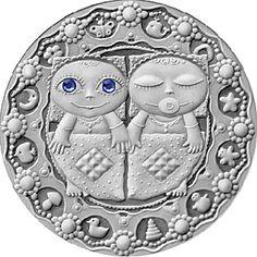 Belarus 2009 20 rubles Gemini UNC Silver Coin