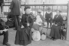 Immigrants traveled through Ellis Island to pursue the American Dream.