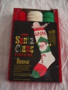 knitted christmas stocking patterns | ... Knit Christmas Santa ...