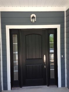 Image result for grey stone grey siding white trim