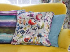 The Iridescence Range by Voyage. Available at Rodgers of York. Soft Furnishings, Iridescent, Range, House Design, Throw Pillows, Interiors, York, Decor, Travel