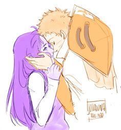Hinata and Naruto by http://johannathemad.tumblr.com/