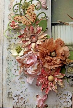 Cloth Flowers, Faux Flowers, Diy Flowers, Fabric Flowers, Flores Diy, Tea Bag Art, Diy And Crafts, Paper Crafts, How To Make Paper Flowers