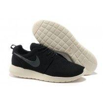 Nike Roshe Run Mens Mesh Shoes Black, Beige, Slategray Logo [v7tRb]