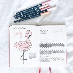 July bullet journal pages //