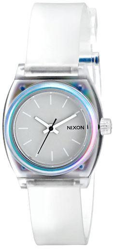 Amazon.com: Nixon Women's A4251779 Small Time Teller P Watch: Nixon: Watches