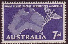 Australia 1957 SG 297 Flying Doctor Service Fine Mint Scott 305 Other Australian Stamps HERE