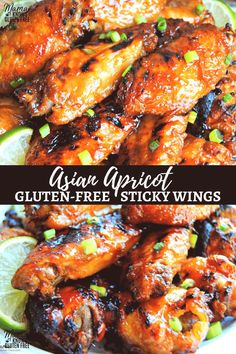 Frugal Food Items - How To Prepare Dinner And Luxuriate In Delightful Meals Without Having Shelling Out A Fortune Asian Apricot Sticky Wings. A Perfect Appetizer For Game-Day Or Your Next Party. Gluten-Free And Dairy-Free. Gluten Free Party Food, Dairy Free Appetizers, Asian Appetizers, Gluten Free Dinner, Dairy Free Recipes, Appetizer Recipes, Fall Appetizers, Healthy Appetizers, Gluten Free Chicken