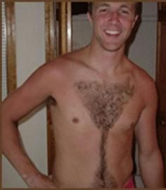 For The Ladies In This Picture: Photo of guy with martini-shaped chest hair
