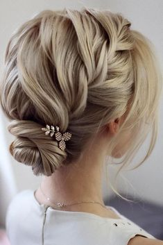Wedding hairstyles ♥ If you have not yet decided on a wedding hairstyle, . - bridal hairstyles - # bride hairstyles # for Wedding hairstyles ♥ If you have not yet decided on a wedding hairstyle, . - bridal hairstyles - # bride hairstyles # for Shaved Side Hairstyles, Cute Braided Hairstyles, Braids For Short Hair, Up Hairstyles, Short Hair Styles, Hairstyle Ideas, Hair Ideas, Bride Hairstyles Short, Bob Hair Updo