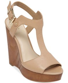 Vince Camuto Mathis T-Strap Platform Wedge Sandals