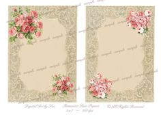Instant Download Romantic Lace Papers by CountryAtHeart2008