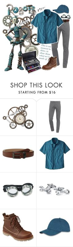 """Robots: Rodney Copperbottom"" by yerd213 ❤ liked on Polyvore featuring Dondup, Ted Baker, Patagonia, Bling Jewelry, L.L.Bean, Sefton, men's fashion and menswear"