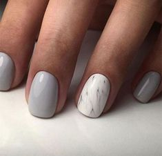 The advantage of the gel is that it allows you to enjoy your French manicure for a long time. There are four different ways to make a French manicure on gel nails. The choice depends on the experience of the nail stylist… Continue Reading → Marble Nail Designs, Marble Nail Art, Colorful Nail Designs, Nail Art Designs, Nails Design, Gel Manicure Designs, Gray Marble, Perfect Nails, Gorgeous Nails