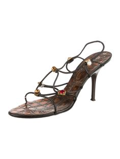 Giuseppe Zanotti Crystal Embellished Slingback Sandals - Shoes - GIU29904 | The RealReal