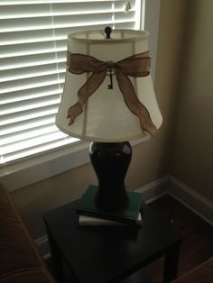 Lamp shade #DIY #burlap