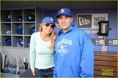 Britney Spears: Dodgers Game with the Boys!
