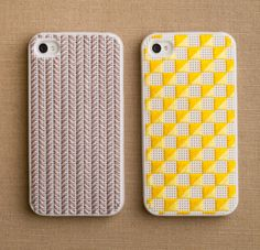 Needlepoint iPhone cases