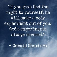 Oswald Chambers #quote