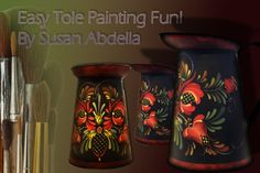 What is Tole Painting:Painting on Tin:Folk Art Norwegian Rosemaling, One Stroke Painting, Painting Art, Tole Painting Patterns, Tola, Painting Lessons, Online Painting, Learn To Paint, Your Paintings