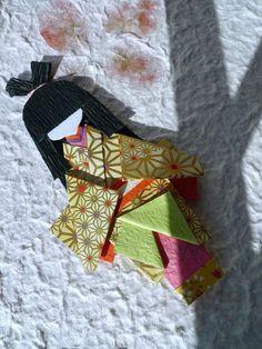 Japanese origami doll (Hina-ningyō) - Aki from etsy https://www.etsy.com/hk-en/listing/162025676/japanese-origami-doll-hina-ningy-aki?ref=shop_home_active