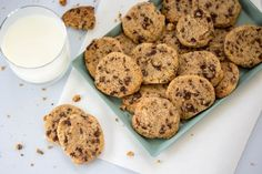 Really delicious and perfect in the fall with a cup of hot coffee. The Cookie R . Healthy Breakfast Options, Healthy Work Snacks, Vegan Snacks, Muffin Recipes, Cookie Recipes, Pinterest Cookies, Canned Blueberries, Vegan Scones, Caesar Pasta Salads