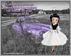 Betty Boop comments, colours of life, colors, experience today, canvas of life