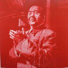 Yan Pei-Ming, Mao au balcon de Tian An Men, 2000