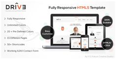 Drive - Responsive Corporate Template . Drive has features such as High Resolution: Yes, Compatible Browsers: IE8, IE9, IE10, IE11, Firefox, Safari, Opera, Chrome, Edge, Compatible With: Bootstrap 2.3.x, Bootstrap 2.2.2, Bootstrap 2.2.1, Bootstrap 2.1.1, Bootstrap 2.1.0, Bootstrap 2.0.4, Bootstrap 2.0.3, Bootstrap 2.0.2, Bootstrap 2.0.1, Bootstrap 2.0, Columns: 4+