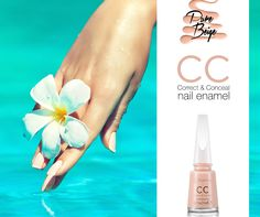 Regeneration, repair and a perfect look! Can one nail polish do them all? Only if it is CC Correct and Conceal Nail Enamel! #nail #nailart #beauty #nailcare #flormar #beige #nailenamel