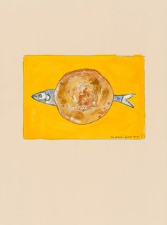 Artist and doctor Mark Podwal discusses his Dabrowa Białostocka work. (Pictured: Herring on a Bialy)  #art