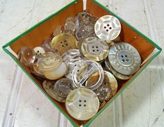 Vintage Variety of Abalone & Clear Buttons by DivineOrders on Etsy, $36.00