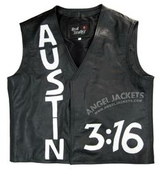 """Precise collection of """"Texas Rattle Snake #StoneCold Steve Austin Vest"""" made best with the real leather and awesome design. 100% high leather price match guranteed + Free shipping and also enjoy 30 Days return and exchange. See more. http://www.angeljackets.com/products/WWE-Stone-Cold-Steve-Austin-3-16-Skull-Vest.html #WWE #mens #swag #sales #deals #shopping #online #celebrityfans #mensfashion #clothing #cosplay #outfits #winteroutfit #celebs #celeb"""