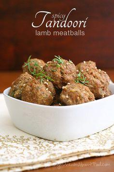 Low Carb Paleo Tandoori Lamb Meatballs | All Day I Dream About Food