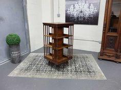 Antiques By Design - Three Tier Victorian Oak Revolving Bookcase