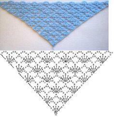 easy crochet shawlette chart