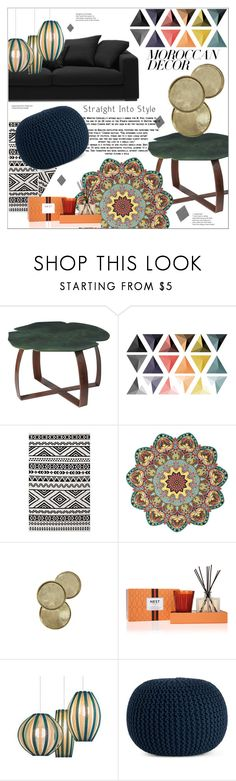 """Bohemian Dream: Moroccan Decor"" by moody-board ❤ liked on Polyvore featuring interior, interiors, interior design, home, home decor, interior decorating, Jayson Home, Nest Fragrances, Saro and moroccandecor"
