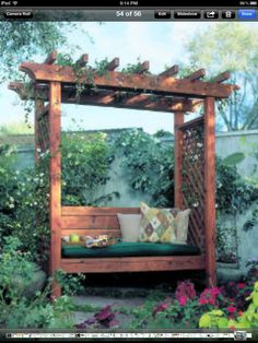 Pergola Bench... Frank next project :)