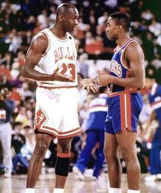 Michael Jordan - Chicago Bulls and Isiah Thomas - Detroit Pistons
