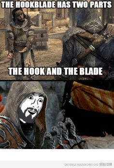 The old hook blade. Assassin's Creed.  Just like the rope dart.