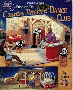 Fashion Doll Country Western Dance Club  Plastic Canvas Pattern Book ASN 3133. $16.00, via Etsy.