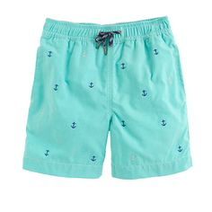 J.Crew+-+Boys'+oxford+cloth+swim+trunk+in+tiny+anchors