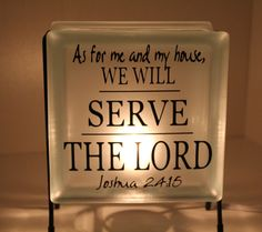 As For Me and My House We Will Serve the Lord by EmbellishedLiving, $28.00