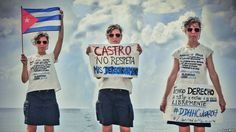 En Cuba la  violación de los Derechos Humanos es institucional. Lacras del régimen se ocupan de cumplir los dictados de Raul Castro. Foto tomada del Facebook de Lia Villares.