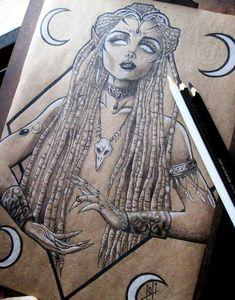 Godess tattoo – Graffiti World Dark Art Drawings, Pencil Art Drawings, Amazing Drawings, Drawing Sketches, Tattoo Drawings, Kunst Tattoos, Body Art Tattoos, Tattoo Guerreiro, Symbole Tattoo