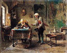 GEROLAMO INDUNO L'antiquario, 1881.