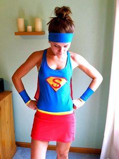 Super Woman / Supergirl inspired Running Costume