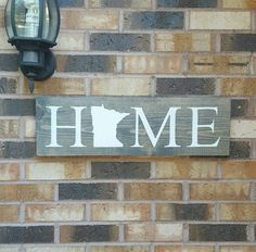 Made to order, please allow 1-7 days for production time before shipment, No two signs are exact having been sanded, hand painted and imperfections of the wood. Comes with a hanger on the back. Can be customized to any color combination to fit your decor.  These are homemade signs and are 24x.75x7.5. I can also distress them for you. Picture 1: Gray stain- not distressed Picture 2: From top to bottom background options- Traditional Walnut Stain- Black Stain- Gray Stain - not distressed…